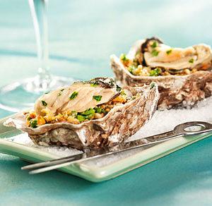Huîtres au champagne/champignon