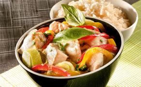 Curry de Lieu Noir et au lait de coco