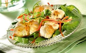 Salade de lotte aux 3 légumes
