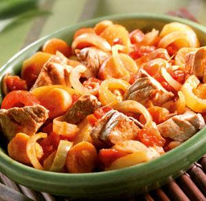 Mijotée de Thon et ses légumes pimentés