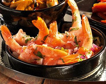 Crevettes aux poivrons et coriandre