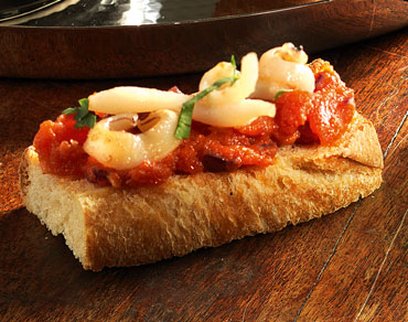 Toasts de seiches rôties à l'espagnol
