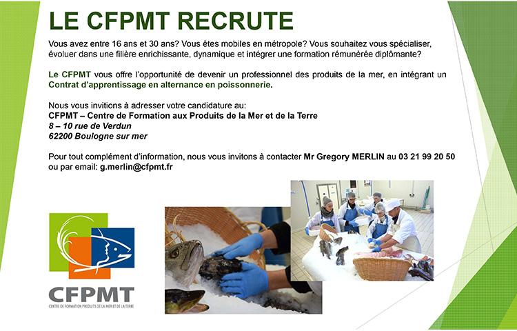 LE CFPMT RECRUTE
